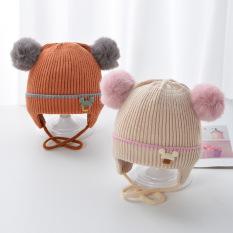 Mũ len lót bông xinh cho bé 0-5 tháng-M52