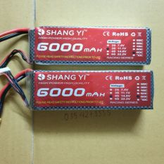 Pin Lipo SangYi 3s 4s 6000mAh 60C thích hợp cho tàu xe..