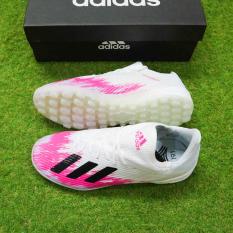Giày đá bóng X19.1 Trắng vạch hồng – Tặng kèm tất chống trơn