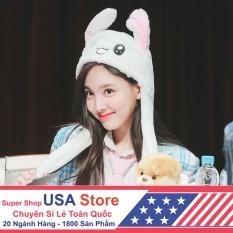 Mũ Tai Thỏ Giật Vũ Đạo Siêu Cute Nayeon BMBE1066