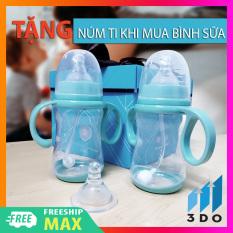 Bình sữa cho bé thông minh siêu mềm không chứa BPA bình sữa chống sặc đầy bụng sử dụng bé từ 2-12 tháng (1 đổi 1 trong vòng 7 ngày bảo hành 6 tháng), bình sữa cho bé, bình sữa cho bé loại tốt, bình sữa cho bé loại ty mềm