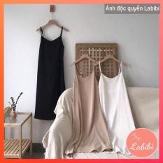 Váy 2 dây đũi xuông – Đầm xinh trơn Basic