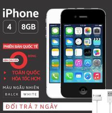 Điện thoại IPHONE 4-8GB Phiên bản quốc tế – Bao đổi trả – Màu ngẫu nhiên – Tặng cáp sạc – SIÊU UY TÍN