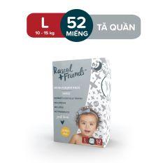 Tã/Bỉm Quần Rascal & Friends cho bé 10kg – 15kg – Size L 52 miếng