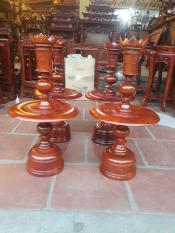 cặp chân nến thờ gỗ hương cao 50 cm