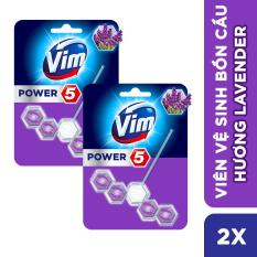 Combo 2 Viên Vệ sinh bồn cầu VIM POWER 5 sạch khuẩn thơm mát 55g