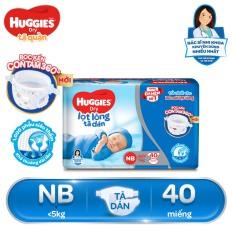 [GIẢM THÊM 6% TỐI ĐA 166k]Tã/ Bỉm dán sơ sinh Huggies NB40 (dưới 5kg) – Gói 40 miếng (Bao bì mới)