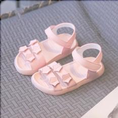 Dép sandal trẻ em bé gái quai ngang đế cao su mềm chống trơn trượt hoạt tiết ngôi sao phong cách thời trang ( B11 )