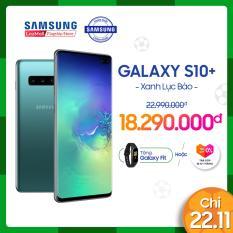 Điện thoại Samsung S10 PLUS 128GB (8GB RAM) – Màn hình Dynamic AMOLED 6.4 , HD+, Quét vân tay siêu âm – Powershare, Camera trước 8 MP, 2 Nano SIM, hỗ trợ 4G – Hàng phân phối chính hãng.