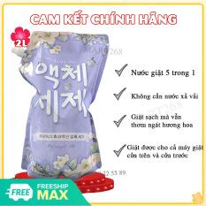 Nước Giặt Blue Hàn Quốc Túi 2kg Hương Thảo Mộc- Nước giặt xả blue; Nước giặt quần áo an toàn cho da