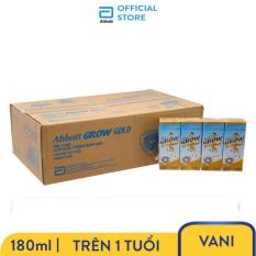 [GIẢM 30K CHO ĐƠN 399K] Thùng 48 Hộp Sữa Nước Abbott Grow Gold Hương Vani 180ml