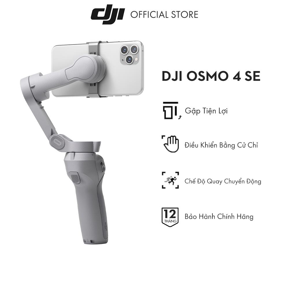 Tay cầm gimbal DJI Osmo Mobile 4 SE 2021 chống rung điện thoại Hàng chính hãng Bảo hành 12 tháng 1 Đổi 1