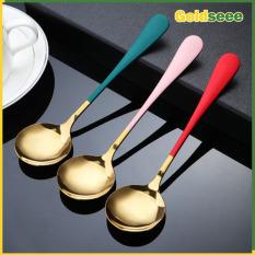 Set 5 muỗng thìa Soup inox 304 mạ vàng mang phong cách Bắc Âu sang trọng chất liệu inox 304 mạ vàng đảm bảo an toàn khi sử dụng