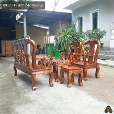 Bộ bàn ghế Phòng Khách Gỗ Tràm Cột 8