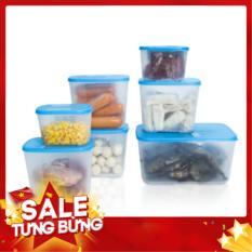 Bộ Hộp Nhựa,Hộp Trữ Đông Tupperware 7 Hộp: Hộp Đựng Thức Ăn, Hộp Đựng Đồ Ăn, Hộp Nhựa Đựng Đồ Ăn An Toàn
