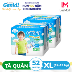 Combo 2 Tã quần Nhật cao cấp Genki XL26 – Gói 26 miếng (Cho bé từ 12-17kg)