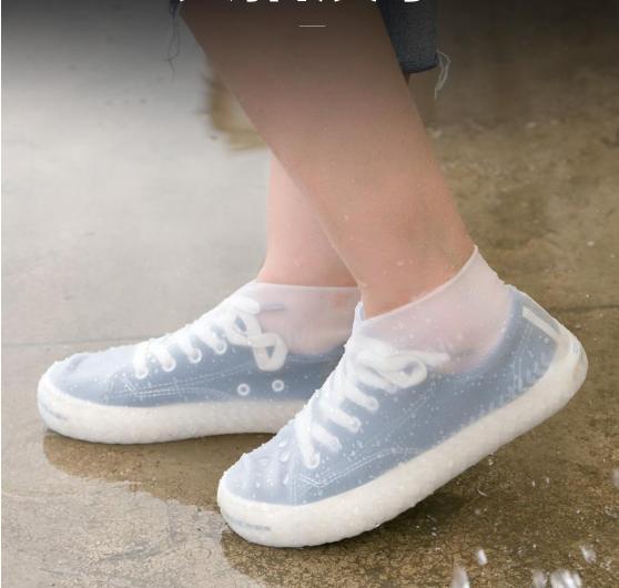 01 đôi Bọc Giày Silicon Không Thấm Nước Có Thể Tái Sử Dụng Bọc Giày Đi Bộ Chống Mưa Chống Trượt