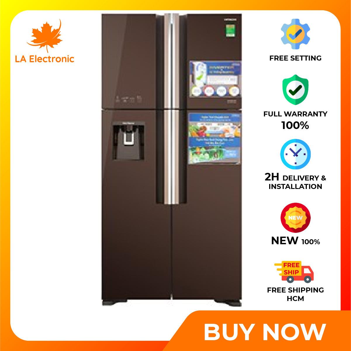 [GIAO HÀNG 2 – 15 NGÀY TRỄ NHẤT 15.09] Trả Góp 0% – Tủ Lạnh Hitachi Inverter 540 lít R-FW690PGV7 GBW – Miễn phí vận chuyển HCM
