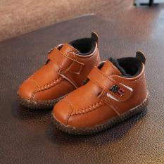 Giày bốt cổ cao cho bé trai 1 – 3 tuổi chất mềm lót lông ấm áp GE39
