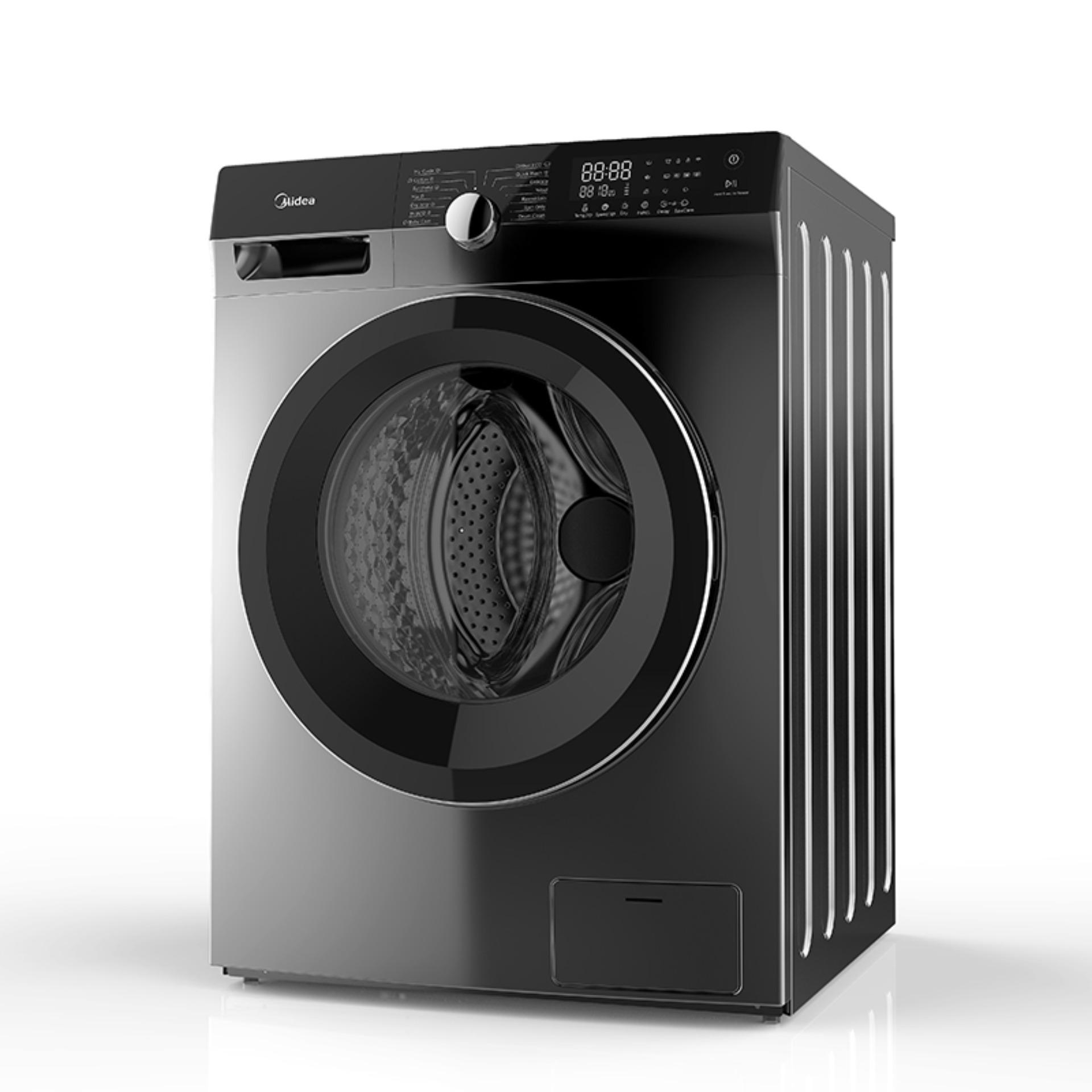 Shop bán Máy Giặt Cửa Trước Midea MFK85-1401 8.5kg (Trắng/Xám Bạc) - Dòng  cao cấp - Tính năng diệt khuẩn đến 99% - 14 Chế Độ Giặt bảo vệ quần áo và