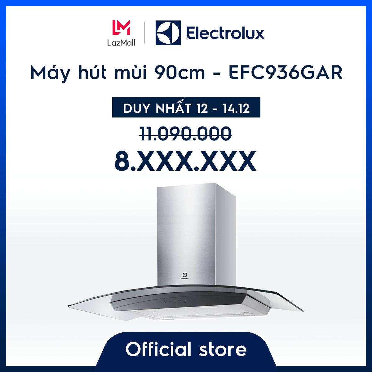 [Miễn phí giao hàng – HCM & HN] Máy hút mùi sang trọng 90cm Electrolux EFC936GAR – Thiết kế sang trọng – Công suất mạnh – Hàng chính hãng