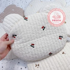 Gối Dot To Dot Hàn Quốc Thêu Họa Tiết Hình Gấu Chất Liệu Cotton Và Bông Organic Siêu Nhẹ An Toàn Cho Bé – Sukem Shop