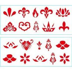 Hình xăm dán trán cổ trang Chu sa cho mỹ nhân Trung Hoa xinh xắn