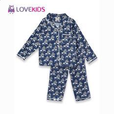 Bộ mặc nhà bé trai – họa tiết tuần lộc Lovekids