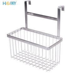Kệ đựng gia vị và đồ dùng bếp gắn cánh cửa tủ bếp HOBBY TB3 Inox 304 xước – không rỉ sét, dộ dày cánh tủ nhỏ hơn 3cm