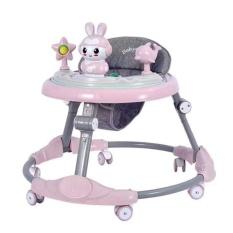 Xe đẩy tập đi cho bé khung hình tròn rộng có nhạc tạo cảm giác thích thú vui nhộn cho bé