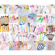 Combo 10 cây bút viết kute các loại, tặng túi nhựa zip hoạt hình