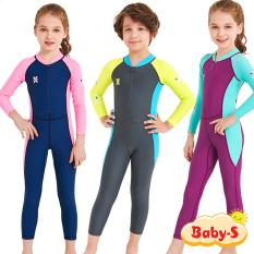 [HCM]Đồ bơi dài tay cho bé chống nắng và tia UV toàn thân cao cấp DIVE & SAIL cho bé trai bé gái từ 3 đến 11 tuổi Baby-S – SDB014