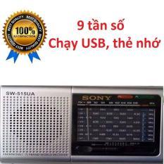 Đài FM Radio Sony Mini SW-515, đọc USB, thẻ nhớ, 9 Tần Số