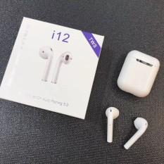 (Xả Kho Giá Sốc) Tai Nghe Bluetooth I12 Nút Cảm Biến – Âm Thanh 5.0 Đỉnh KOUT -Tai Nghe Blutooth – Tai Nghe I12 Bản Nâng Cấp Của I11 – Tai Nghe Pin Trâu