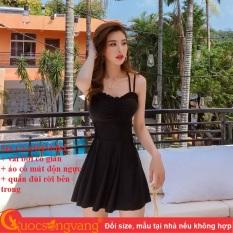 Váy đầm bơi nữ kèm quần đùi bộ đồ bơi nữ hai dây GLSWIM083 Cuocsongvang