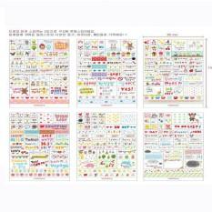 Set 6 Tấm Sticker Trang Trí Sổ Kế Hoạch Nhật Ký – Phong Cách Hàn Quốc | Drawing Market Sticker 08