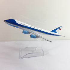 Mô hình máy bay 747 kim loại B747 dòng Boeing 747 16cm món quà tặng mô hình tĩnh die-cast trưng bày