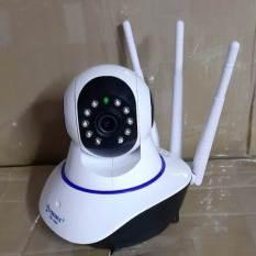 camera wifi app yoosee – quan sát trong nhà 3 râu xoay 360 độ 1080P (BH 12 tháng) ghim thẻ trên đầu