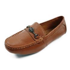 Giày Mọi Bé Trai Da Bò Thật Siêu Mềm Siêu Bền Ensado BY07LM (Đen – Vàng)