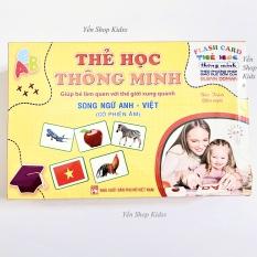 Sale !!!! Bộ Thẻ Học Thông Minh 18 Chủ Đề Loại To Song Ngữ Anh-Việt Cho Bé Từ 0-6 Tuổi (1277 )