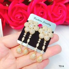 Bông tai thời trang nữ hoa dài thiết kế cao cấp Orin T514