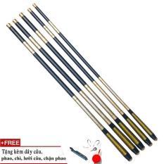 Cần câu tay SHIMANO 5H cacbon cao cấp ( tặng phụ kiện ) – Cỡ: 3m6 – 4m5 – 5m4 – 6m3
