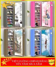 ( CHỌN MÀU ) Tủ giày 9 tầng , tủ vải khung inox đựng giày dép 9 tầng , tủ vải giày 3D thông minh