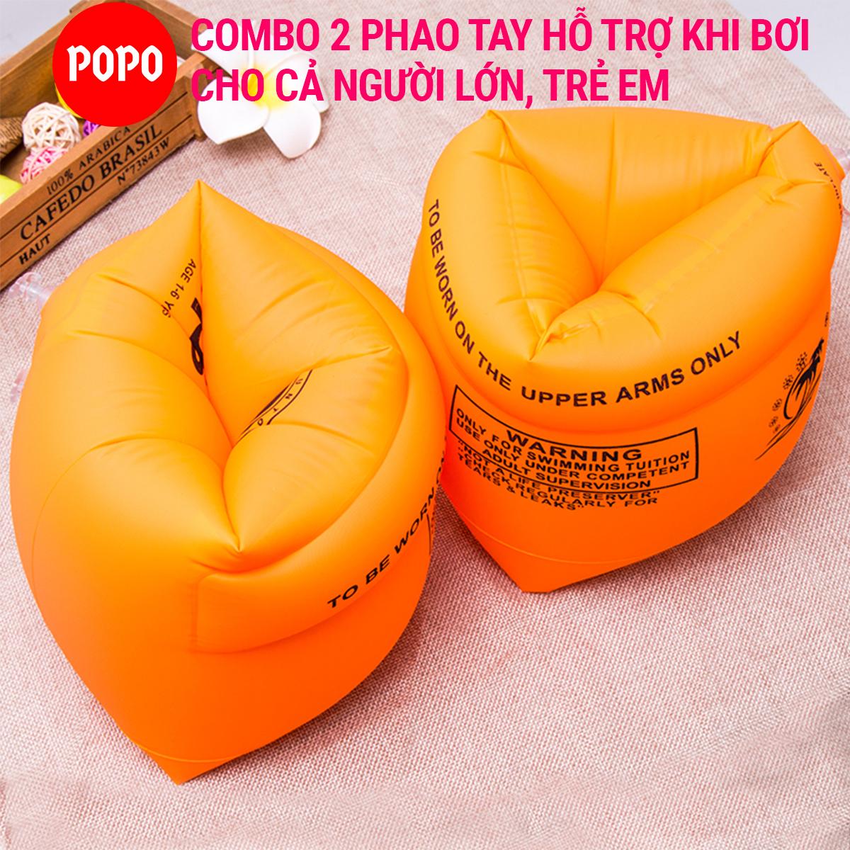 Phao đeo tay tập bơi cho người lớn, trẻ em (02 phao cho 2 tay) POPO LIFE2 phao bơi an...