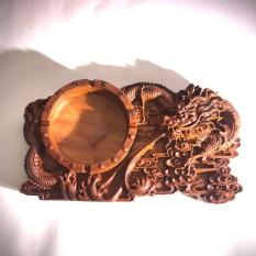 Gạt tàn thuốc lá gỗ hương đỏ dùng là quà biếu , đồ lưu niệm , tặng phẩm