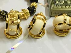 Nhẫn Lõi Ngà Rồng Vàng (Inox xi vàng) 24K