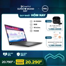 [SIÊU SALE 99] Laptop Dell Vostro 5410 14 inches FHD (Intel / i5-11300H / 8GB / 512GB SSD / OfficeHS 2019 / Win 10 Home SL) l Gray l V4I5014W l HÀNG CHÍNH HÃNG
