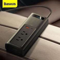 Bộ trạm sạc đa năng Baseus cho ô tô, chuyển đổi nguồn điện từ 12V lên 110V , công suất 150W hỗ trợ sạc nhanh cho điện thoại, máy tính bảng, laptop