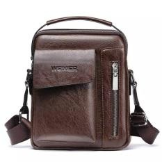Túi đeo chéo nam thời trang Túi da PU đựng Ipad, điện thoại, ví, đồ cá nhân size 24x20x6cm NAAA1