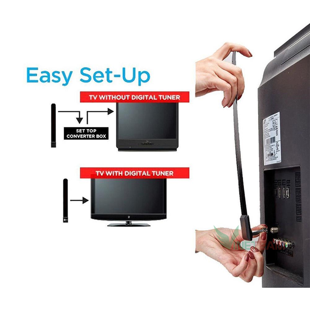 Ăng ten kỹ thuật số trong nhà giúp TV có đường truyền hình ảnh tốt hơn lên đến 1080P Clear TV key